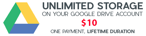 Unlimited space on your Google Drive!